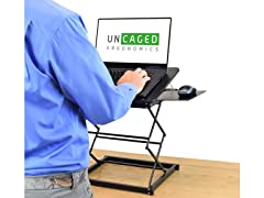 Uncaged Ergonomics Laptop Stand Desk Black