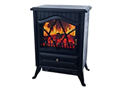 Warm House Retro Floor Standing Electric Fireplace
