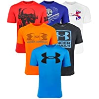3 Pack Under Armour Women's, Men's and Boy's Fitness T-Shirt (Multi Colors)