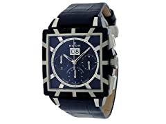 EDOX Men's Stainless Black Dial Watch
