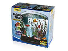 Tetra 3 Gallon Half Moon Aquarium with LED Bubbler