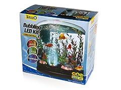 Tetra 3 Gallon Half Moon Aquarium with LED Bubbler