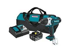 """Makita 18V Cordless 1/2"""" Square Drive Impact Wrench Kit"""