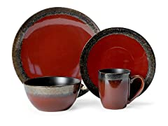 Mikasa 4PC Dinnerware Set - Calder Red