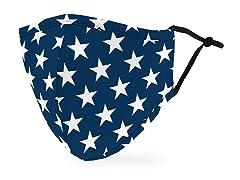 Navy Stars Adult Size Face Mask