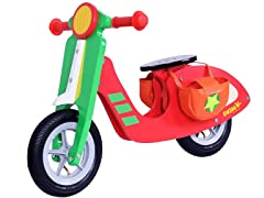 Dushi Boys' 2-Wheel Wooden Scooter