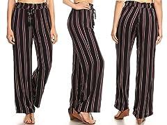 Nextex Womens Rayon Stripe Pallazo Pants
