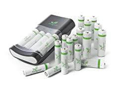 iGo Charger with 12 AA & 8 AAA Batteries