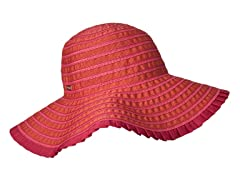 Espanola Way Ribbon Sun Hat, Magenta