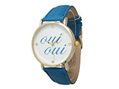 Oui Oui Leather Watch