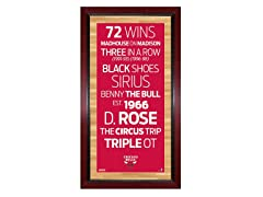 "Chicago Bulls 16"" x 32"" Sign"