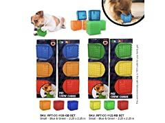 Rubik's Squeaky Chew Cubes, 3-Pack