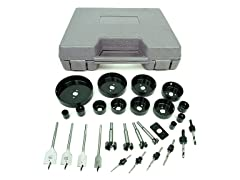31-Piece Hole Saw and Drill Bit Kit