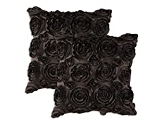 Kensington Chocolate Pillow: Set of 2