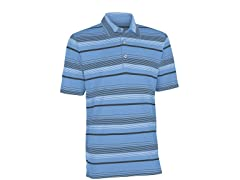 Performance Ombre Stripe Golf Shirt - Azure