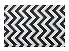 Chevron Placemat S/4-Black