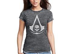 Black Flag Logo Ladies T-Shirt