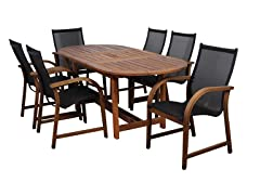 7-Piece Eucalyptus Oval Dining Set