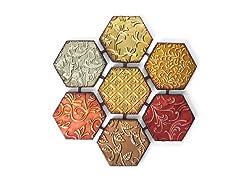 Patchwork Hexagon Wall Décor