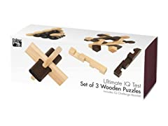 Ultimate IQ Set of 3 Wooden Puzzles