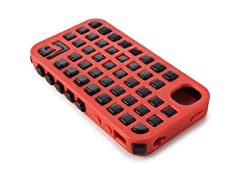Grid iPhone 4/4S Case - Orange/Black