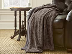 Amrapur Overseas Luxury Faux Fur Throw