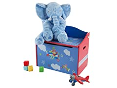 Toy Box-Storage Bench Seat for Kids (Blue)