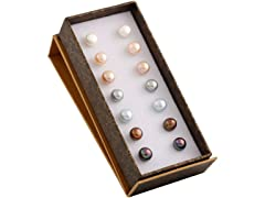 Set of 7 Pairs of Freshwater Pearl Studs
