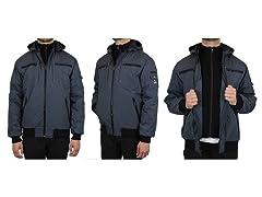 Mens Heavyweight Tech Jacket w/ Hood