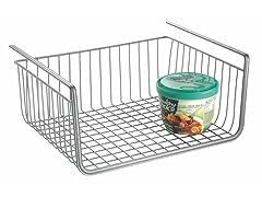InterDesign York Lyra Silver Under Shelf Basket