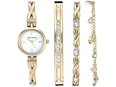 Anne Klein AK/3586 Watch & Bracelet Set