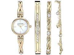Anne Klein AK/3586 Watch & Bracelet Set
