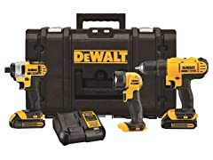 DeWALT 20V MAX 3-Tool Kit w/ ToughSystem Case