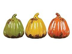"""6.5"""" Small Pumpkins Set of 3"""