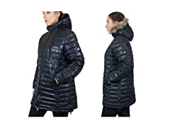 Womens Quilted Long Puffer Jacket