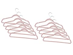 Dusty Rose Fleece Hanger 120-Pack