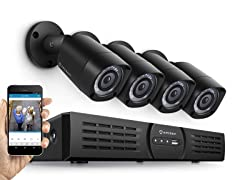 Amcrest 720p 4CH Security System w/4 Bullet Cams