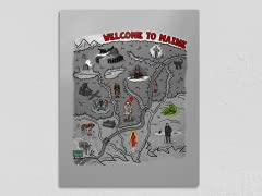 WELCOME TO MAINE! Metal Poster