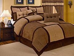 Dareen 7pc Comforter Set - Brown - 2 Sizes