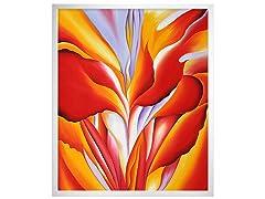 O'Keeffe - Red Canna: 20X24