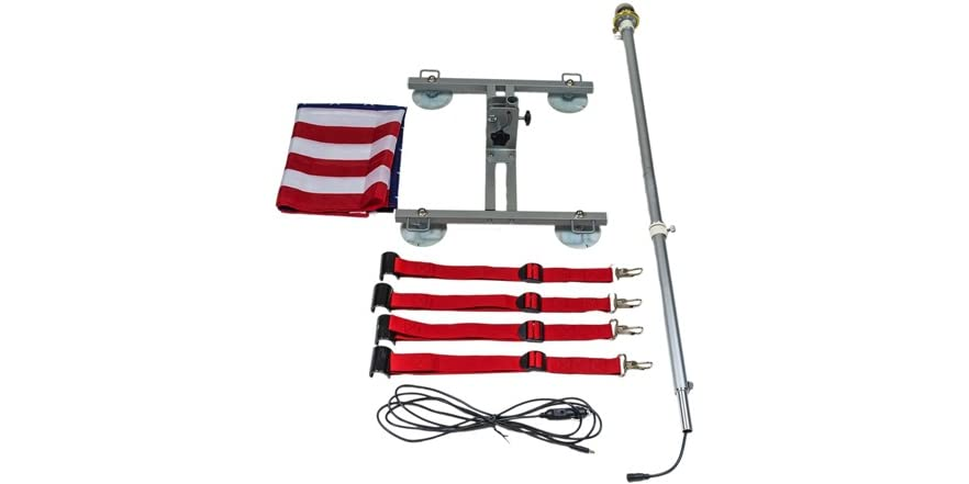 Beast Car Flag Roof Mountable Flagpole System