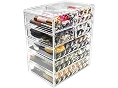 Sorbus Acrylic Cosmetic Storage Diamond Design