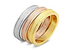 Set of 3 Stackable Rings w/ Glitter