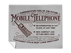Vintage Brick Phone Mink Fleece Blanket