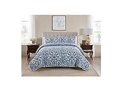 Tahari Home Soft Quilt Coverlet, 3pc Set