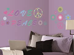 Glow in the Dark Peace/Love- Set of 4