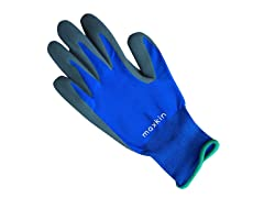 Maxkin 6 Pairs Blue Latex Foam Gloves
