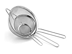 Cuisinart Fine Mesh Stainless Strainers, Set of 3