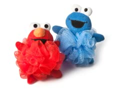 Elmo & Cookie Monster Loofah Sponges