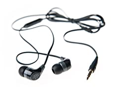 Diego Earphones w/Inline Mic - Black/Grey